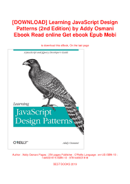 Learning Javascript Design Patterns Epub Download Learning Javascript Design Patterns 2nd Edition