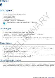 Verizon Bluetooth Compatibility Chart Tc55ch Touch Computer User Manual Tc55 Verizon User Guide