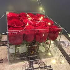 Flower Display Stands Wholesale Waterproof Clear Acrylic Rose Flower Display Box Wholesale Buy 66