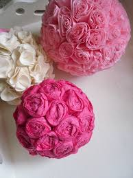Diy Flower Balls Tissue Paper Tissue Paper Balls Diy Research Paper Example