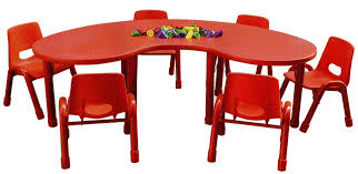 kidney shape red tone kids playing table with plastic chairs beautiful kids table and chairs labeled in toddler table childrens