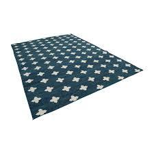 obeetee obeetee green dhurrie geometric rug on