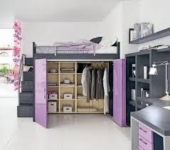 Image of: Loft Bed Ideas Purple