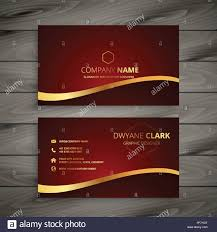 Red Design Company Red Luxury Golden Business Card Design Stock Vector Art