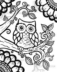 Girl Owl Coloring Pages Easy Christmas Stocking Cute For Girls