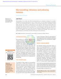Pdf Microneedling Advances And Widening Horizons