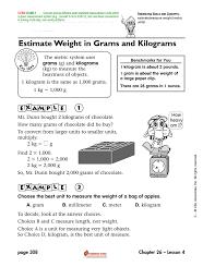 Estimate Weight In Grams And Kilograms
