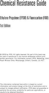 Epdm Fkm Chemical Resistance Guide Pdf Free Download