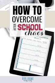 After School Schedule Maker With Free Schedule Planner Our