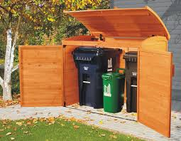 decorative outdoor trash cans with leisure season large wooden outdoor trash recycle bin storage