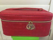 elizabeth arden red cosmetic make up case bag red women fashion purse travel zip