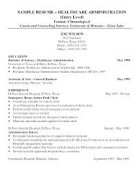 Examples Of Healthcare Resumes Extraordinary Entry Level Sample Resumes Entry Level Healthcare Resumes Entry