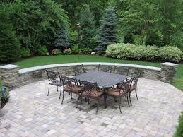 paver patio stone seat wall stone pavers patio
