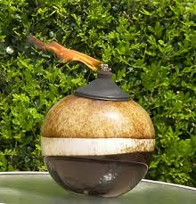 aura art outdoor patio tabletop torch oil lamps