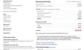 Uk Invoice Sample Paying Ebay Fees Uk Ebay Seller Centre How Private