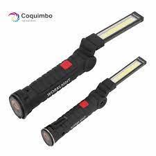1 * COB LED USB Sạc Được Xây Dựng Trong Pin Đèn Led Có Nam Châm Đèn Pin Di  Động Cắm Trại Ngoài Trời Làm Việc Đèn Pin work torch usb  rechargeablerechargeable usb led -