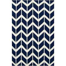 interior navy blue chevron rug white and 8x10