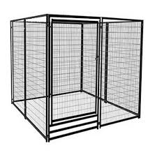 vebo deluxe outdoor welded panel dog kennel run kit single door size