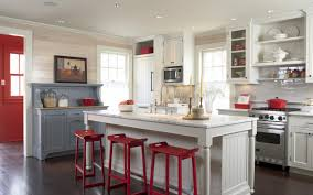 White Kitchen With Red Accents White Kitchen With Red Accents Mishistoriasdeterror