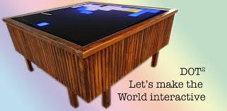 picture of dot² an interactive coffee table