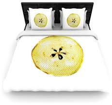 theresa giolzetti apples yellow white duvet cover contemporary duvet covers and duvet sets by kess global inc