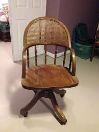antique oak swivel desk chair with cane from krrb local epic