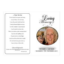 Free Funeral Templates Download In Loving Memory Funeral Pamphlets 9