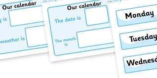 Daily Calendar Weather Chart Weather Calendar Weather