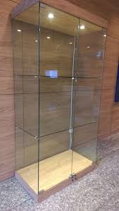 custom display cabinets with frameless glass doors singapore