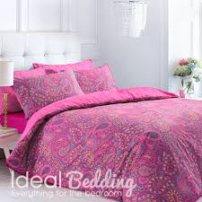 paisley fuchsia duvet quilt bedding cover and pillowcase bedding set duvet sets complete bedding sets bed sheets pillowcase