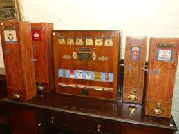 Old Cigarette Vending Machine For Sale Beauteous Five Vintage Wooden Cigarette Vending Machines Thomas Watson
