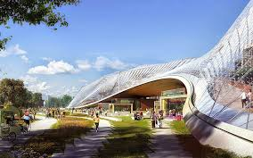 google office hq. Shops And Cafes Lie Beneath Google\u0027s New Campus, Cycle Paths Criss-cross The Google Office Hq