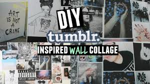 diy tumblr inspired wall collage youtube