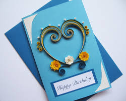 Birthday On Day Card Husband Birthday Card S Day Card Quilling