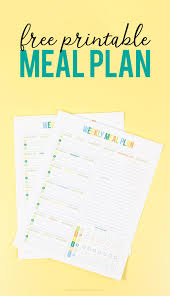 meal planner free free printable weekly meal planner printable crush