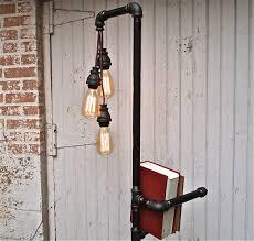 diy industrial lighting. diy industrial pipe floor lamp industrialpipefurniture u003eu003e learn more about homemade furniture at diy lighting