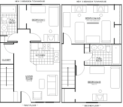 bedroom house plans no garage plan apartment split six large 2 bedroom house plans with