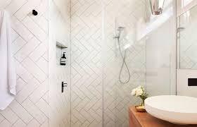 you can also use the herringbone tile pattern in the bathroom to add an unexpected twist