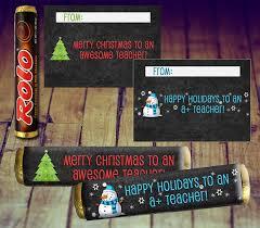 teacher xmas gifts elegant candy wrapper teacher gift rolo wrappers of 60 inspirational teacher