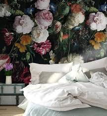 3D Vintage Dark Floral Removable ...