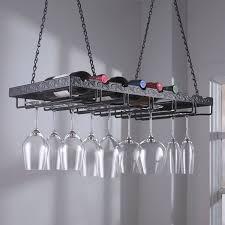 Metal wine glass rack Ikea Wine Enthusiast Metal Hanging Wine Glass Rack Wine Enthusiast