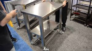 Design Delectable Top Steel Butcher Wheels Kitchen Table Block Work