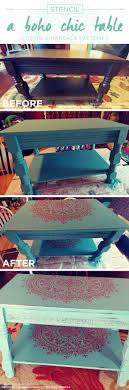 Stencil a Boho Chic Table Using A Mandala Pattern