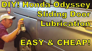 how to lubricate honda odyssey sliding doors diy 2000 2016