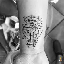 Nº54 Millennium Falcon Tattoo Tetování Nápady Na Tetování A