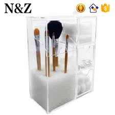 nz m108 hot multifunctional makeup storage clear acrylic cosmetic brush holder