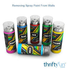 removing spray paint from walls