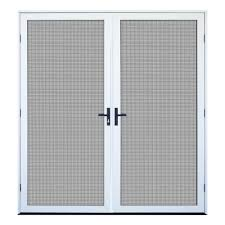 Unique Home Designs 36 In X 80 In Arbor White Recessed Mount All Unique Home Designs Security Door