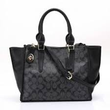 Coach Logo Monogram HW319 Satchel In Black Coach Satchel, Monogram Logo,  Coach Outlet,