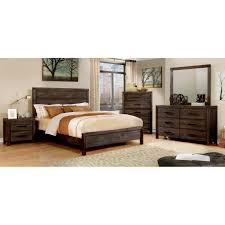Solid Wood Contemporary Bedroom Furniture Contemporary 5pc Bedroom Set Solid Wood Material Full Platform Bed